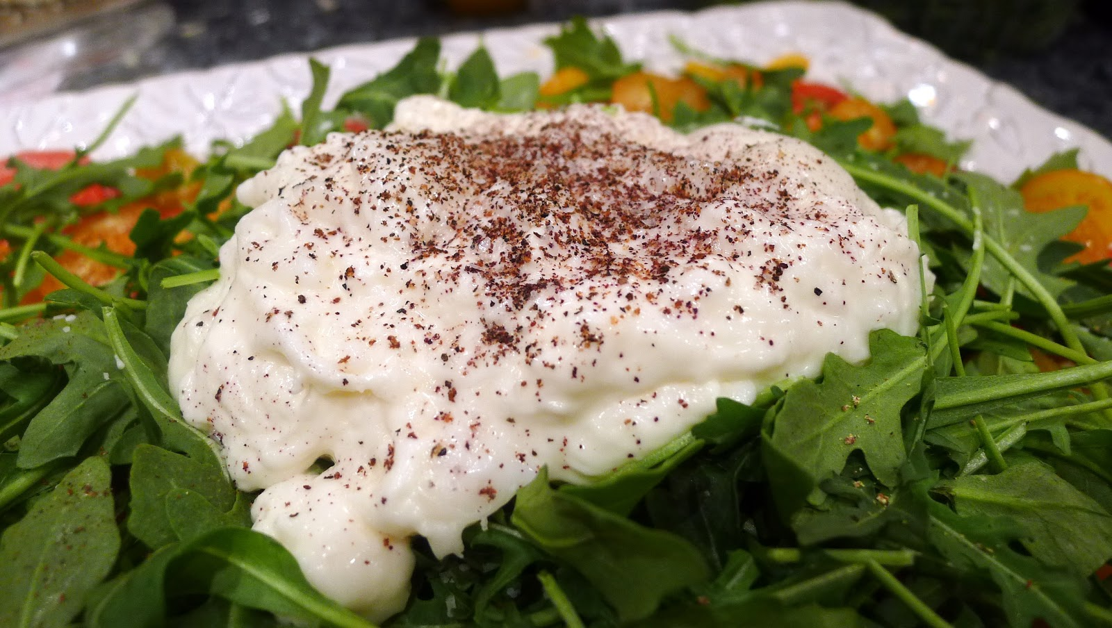 newFOOD tuesdayz: Simple Tomato and Burrata Salad