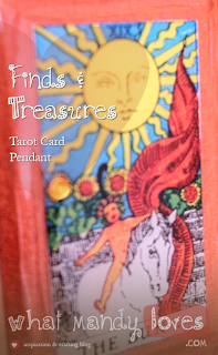 Finds & Treasures: Tarot Card Pendant (July's Jewelry Theme) via www.whatmandyloves.com