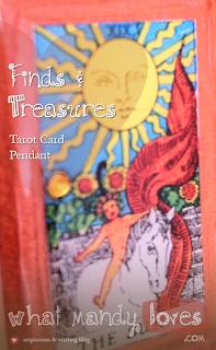 Finds & Treasures: Tarot Card Pendant (July's Jewelry Theme) via www.whatmandyloves.com