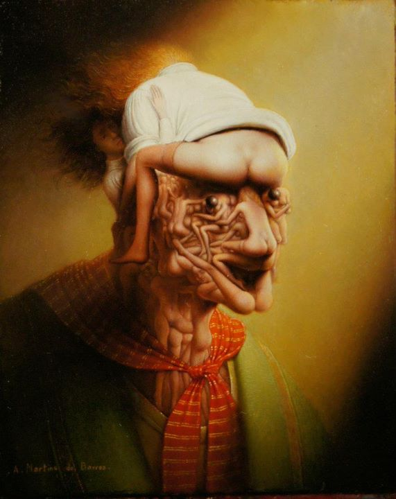 André Martins De Barros 1942 | French Surrealist and Fantastic Realism painter