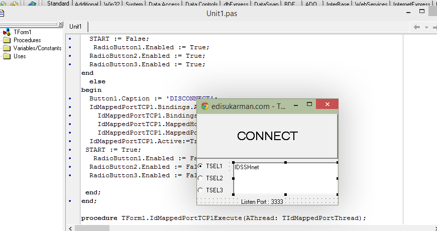 Source Code Injek Telkomsel All IP-Multy Host, Expired date and Anti Sniff - Delphi 7