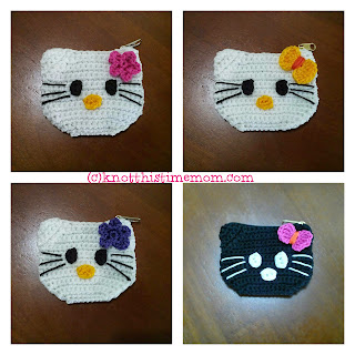 crochet hello kitty change coin purse