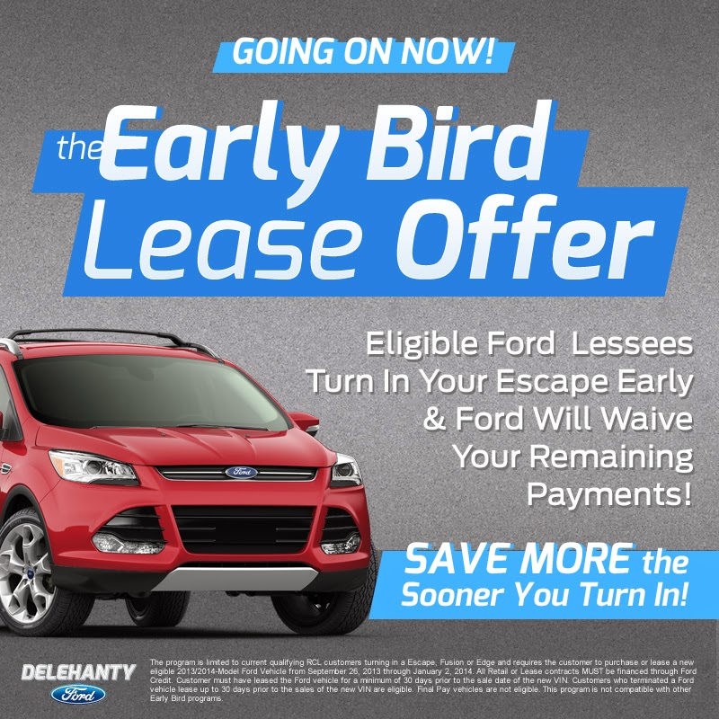 Ford Escape Early Bird Lease Offer