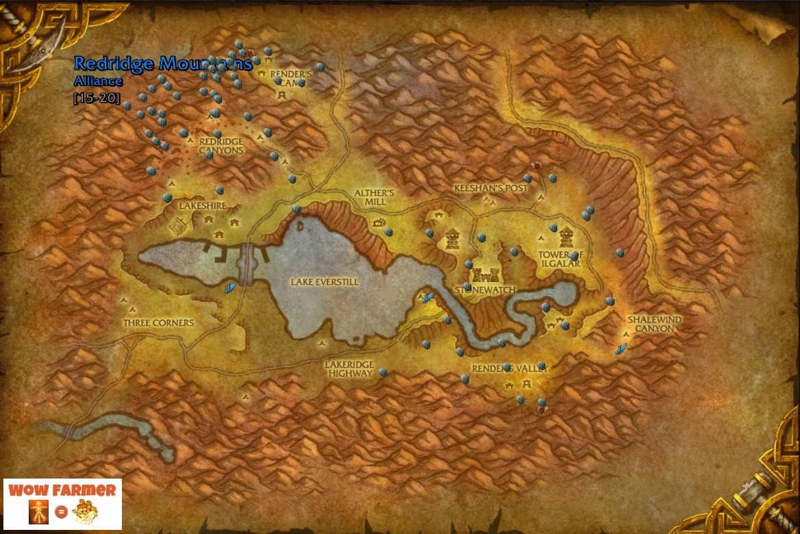 Wow farmer tin ore redridge mountains eastern kingdoms good a good place to farm tin ore is redridge mountains in the eastern kingdoms continent if you have flying and cataclysm you should be able to farm 3 5 stacks gumiabroncs Image collections