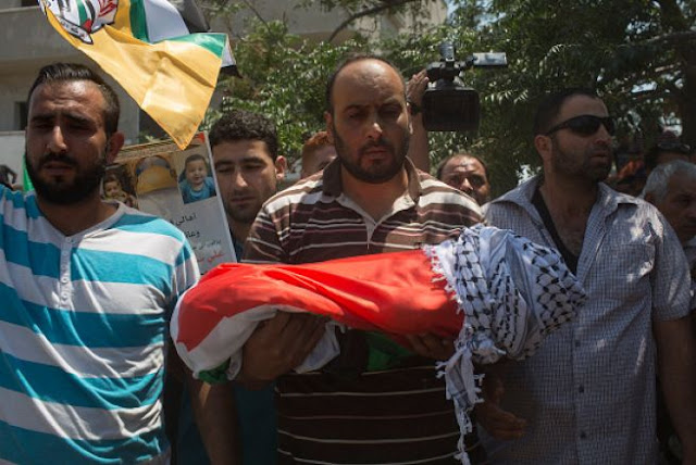 A Palestinian baby was burned alive in an attack by Israel Terrorist