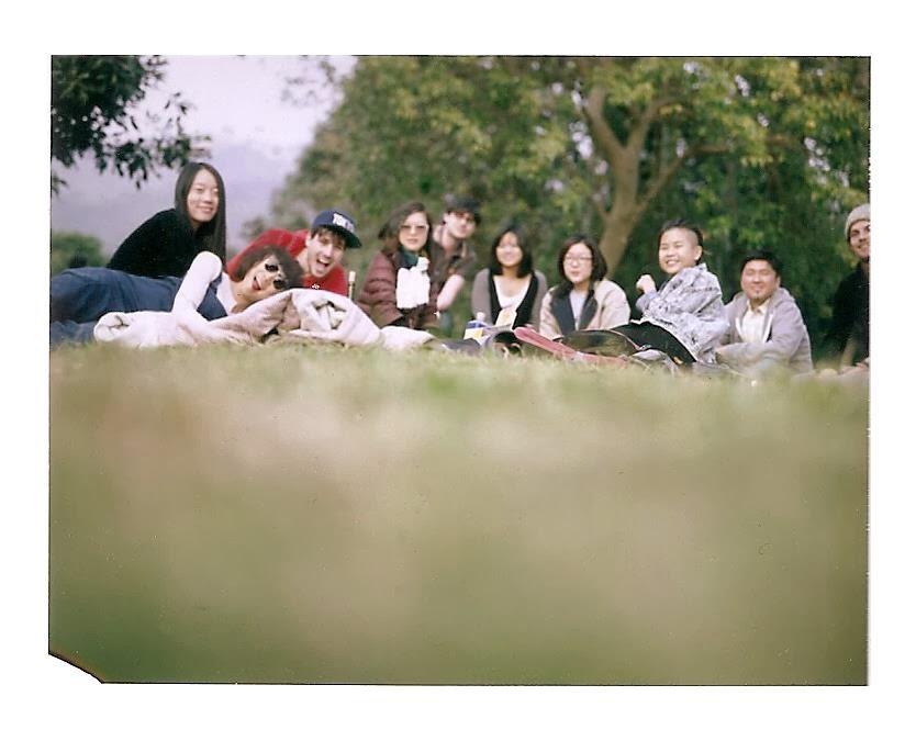 Hong Kong picnic polaroid