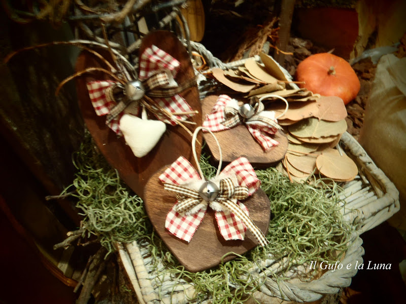 Il gufo e la luna shabby chic country style decorazioni - Natale country decorazioni ...
