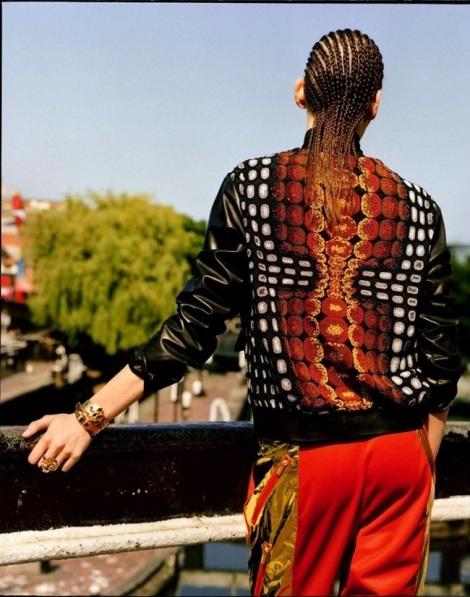 Amanda Murphy with dreadlocks in Camden Road