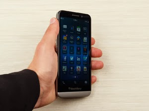 Tampilan BlackBerry Z30