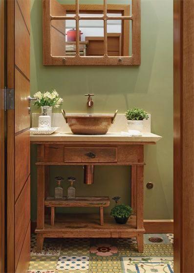 blog de decoração  Arquitrecos Aparadores para banheiros  Versatilidade e  -> Cuba Para Banheiro Antiga