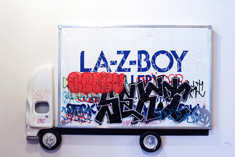 Pentti Monkkonen Box Truck Laz-e-boy, Miami Art Basel 2014