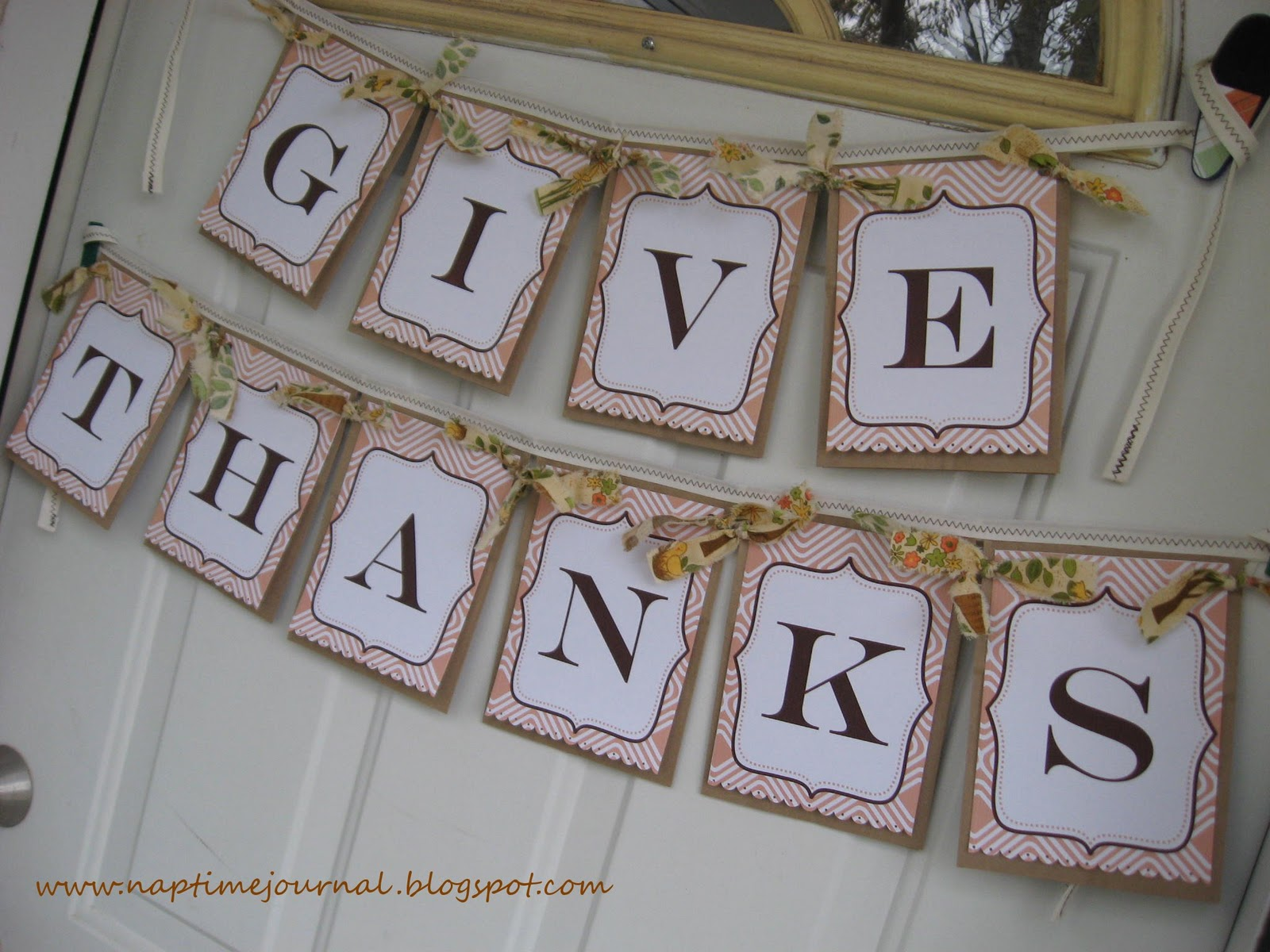 It is a picture of Unusual Give Thanks Banner Printable