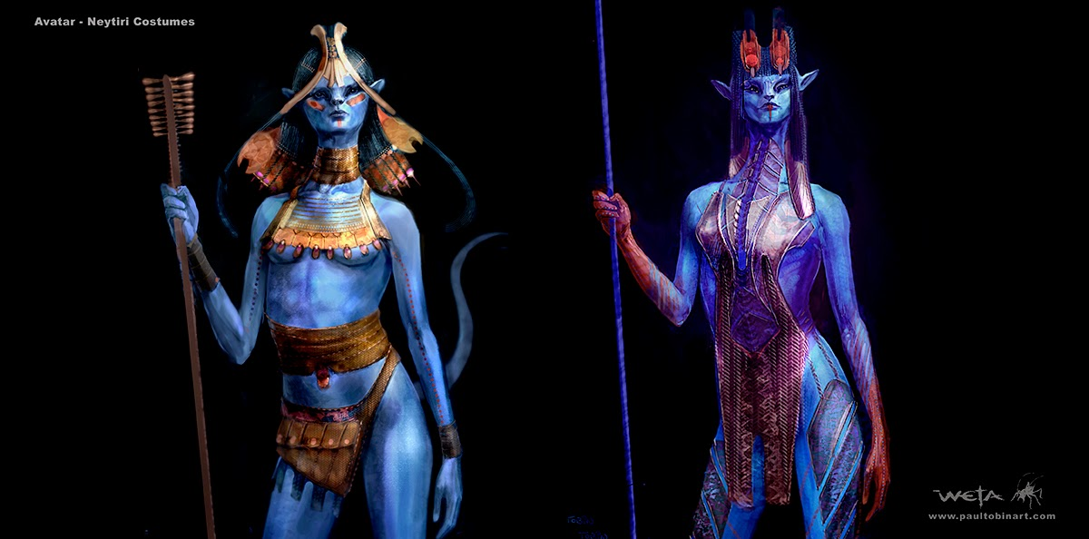 So these were done a few years back now at Weta Workshop. With the film not only out but announcing a hopeful sequel I figured it was high time to finally ... & See Neytiriu0027s Bold Unused Look in AVATAR Costume Concept Art by Paul ...