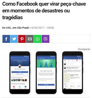 Como Facebook quer virar peça-chave em momentos de desastres ou tragédias