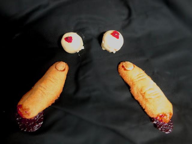 Ojos y Dedos de Bruja. Recetas para Halloween.
