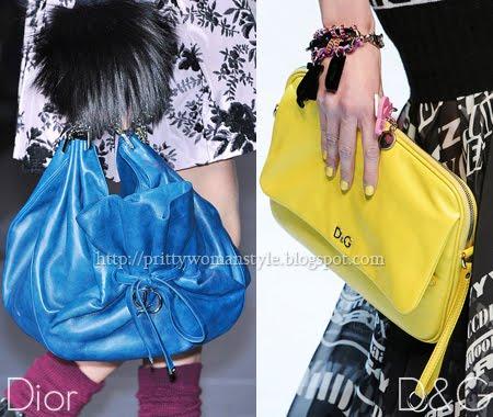 големи торби и клъч чанти в ярки цветове