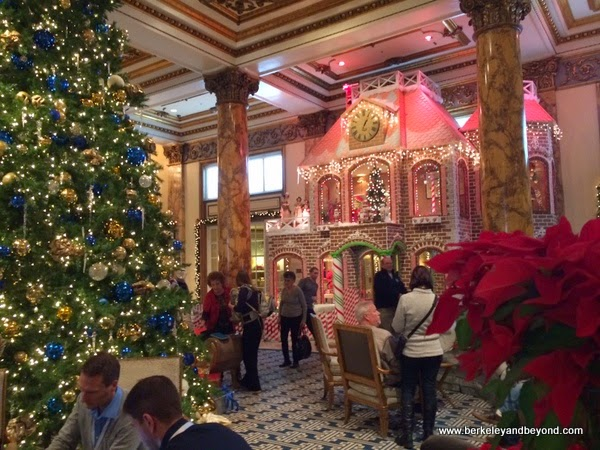 2-story gingerbread house at the Fairmont Hotel in San Francisco