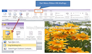 Cara Membuat Surat Undangan dengan Mailmerge