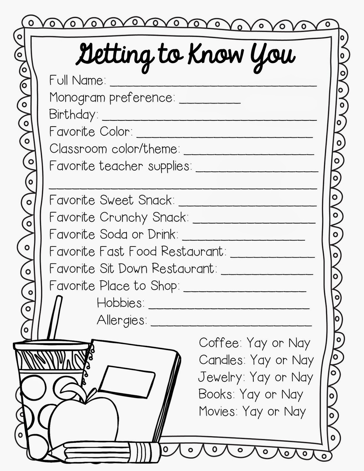 Getting To Know You Worksheets For Kids Free Worksheets Library – Getting to Know You Worksheet