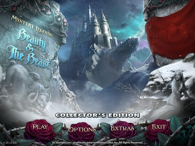 Mystery Legends: Beauty and the Beast Collector's Edition Main Menu