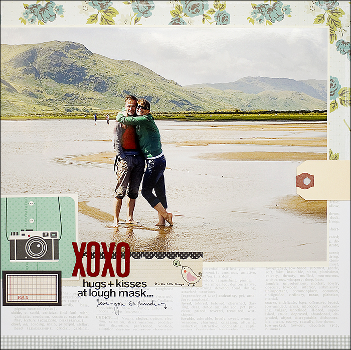 Scrapbooking Layout - Lough Mask Ireland