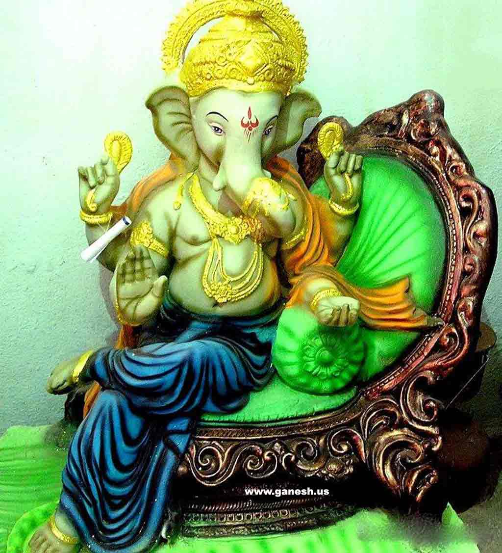 Shri Ganesh Hd Wallpaper: Hare Krishna: Shri Ganesh Wallpaper-9