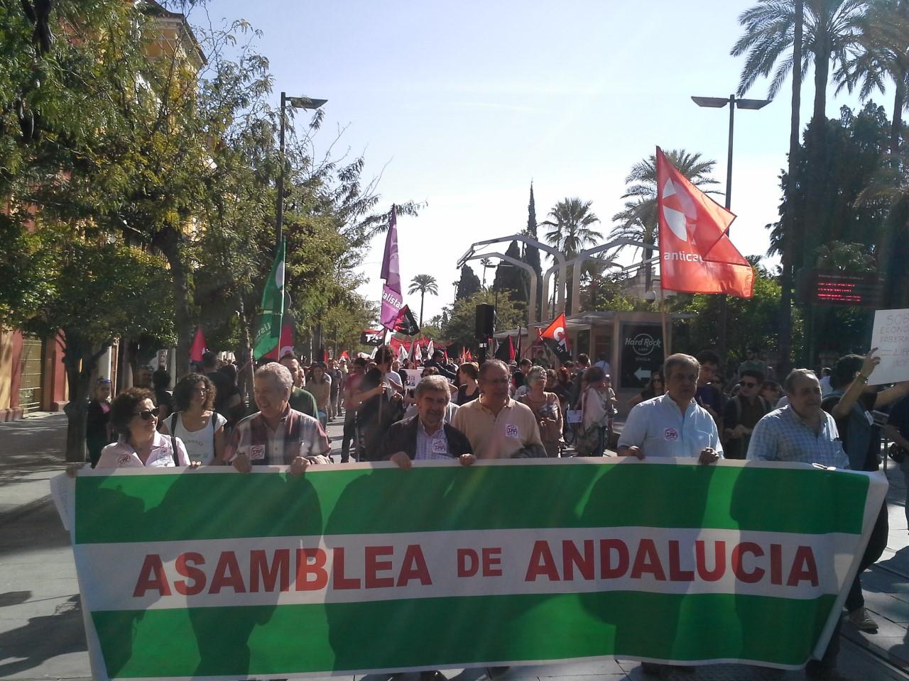 AdA en Manifestación Sevilla 15.10.2016 niCETAniTTIP