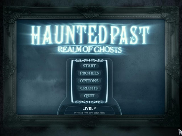 Haunted Past: Realm of Ghosts Collector's Edition Main Menu