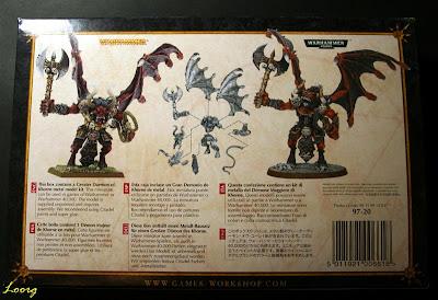 Contraportada de la nueva caja del Gran Demonio de Khorne
