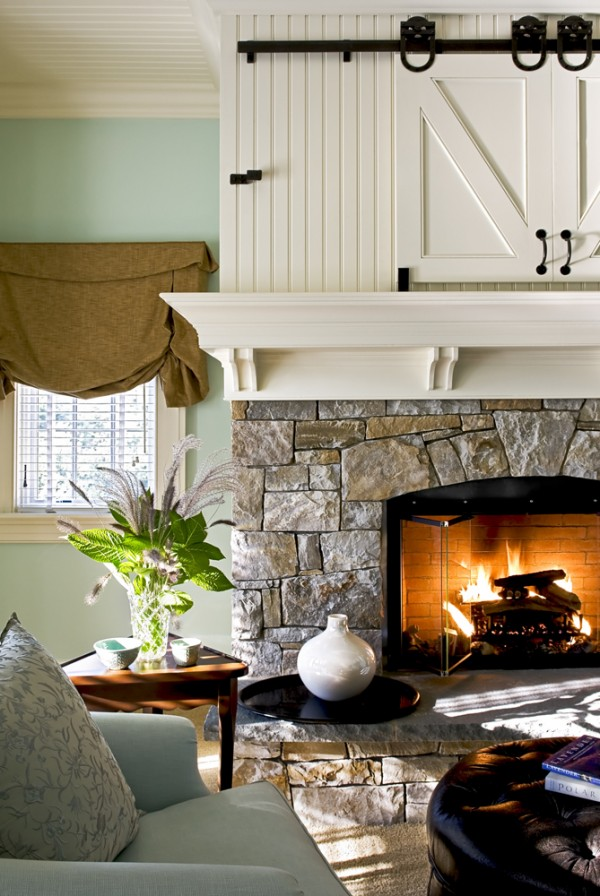 The well hidden tv clever disguises for that big black Hide fireplace ideas