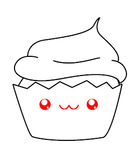 How To Draw A Kawaii Cupcake Step 6