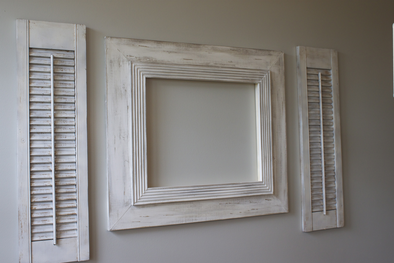 how to distressing shutters - Distressed Frames