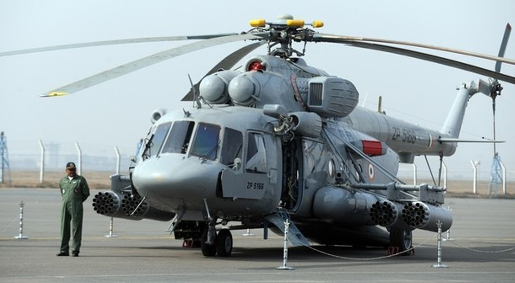 Indian Armed Multi-Purpose Transport Mi-17V-5 Helicopters ...