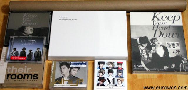 Pack completo con discos de K-pop