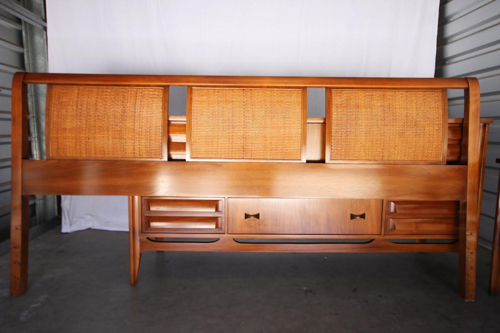MODERNHAUS Burl Table Mid Century Bedroom Danish Desk and