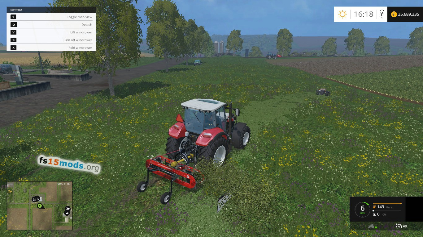 bucher m300 mower and windrower pack 3 0 fs15 mods. Black Bedroom Furniture Sets. Home Design Ideas