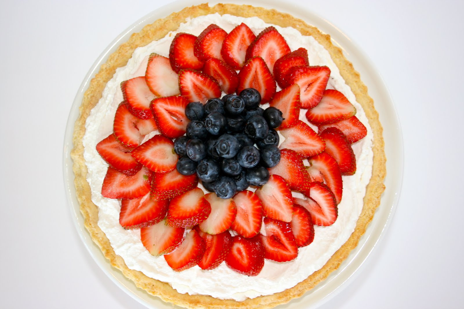 ... strawberry blueberry tart 1 by this tart is very creamy and strawberry
