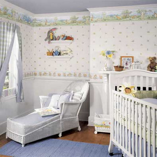baby room decor ideas 2017 grasscloth wallpaper