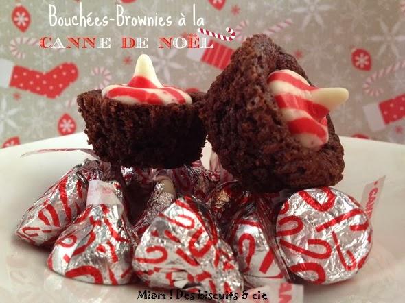 Bouch es brownies la canne de no l miam des biscuits - Canne de noel ...