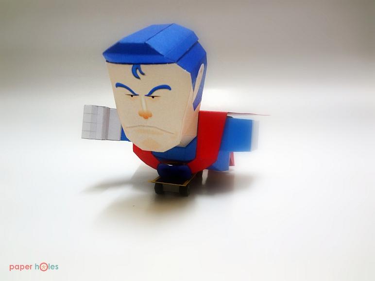Suppa Man Papercraft Pose 2