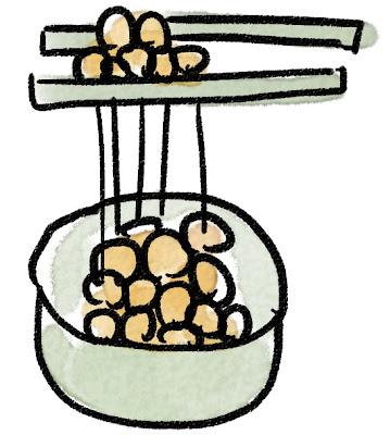 納豆のイラスト