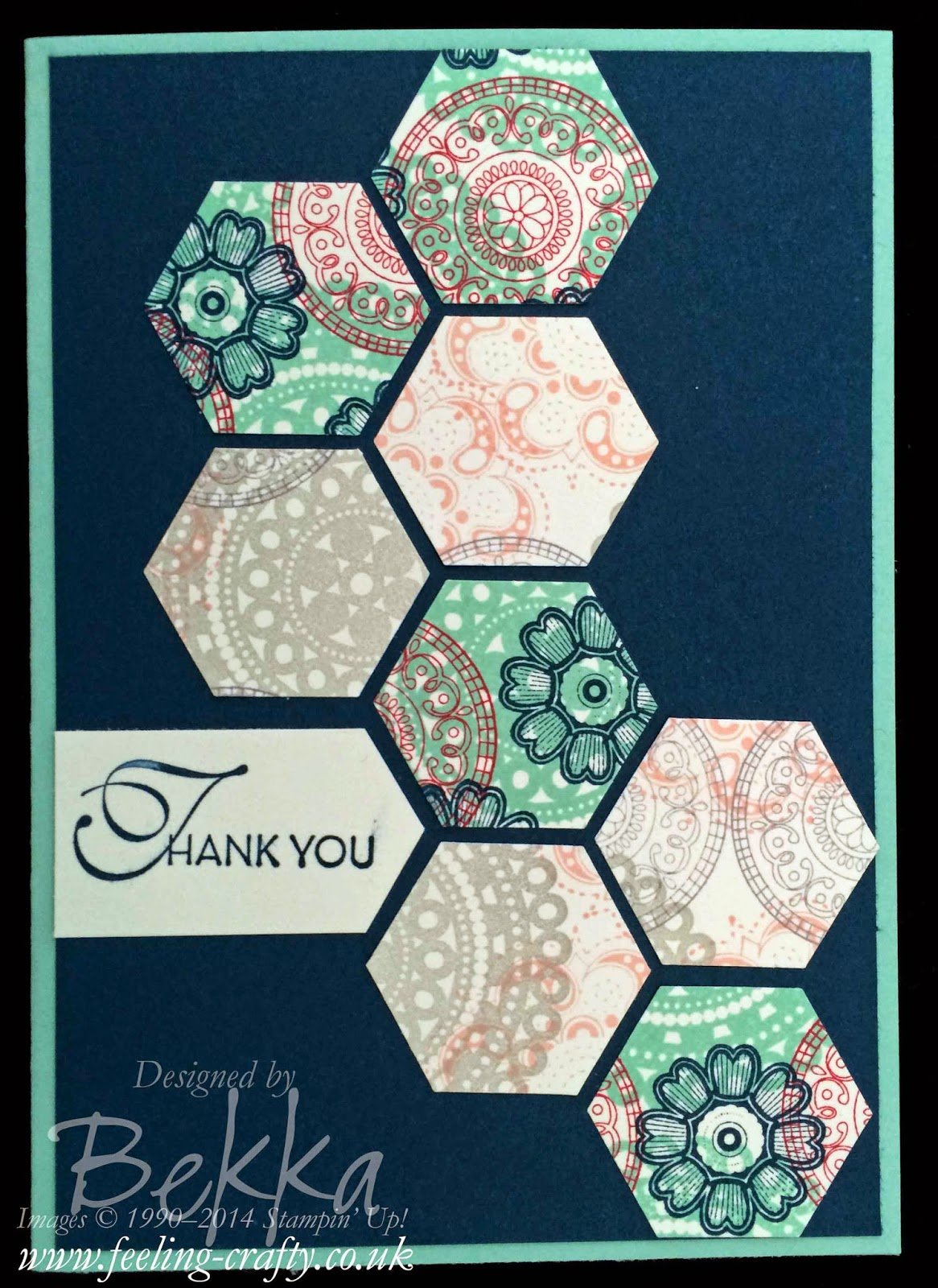 Lacy and Lovely Thank You Card by Stampin' Up! UK Independent Demonstrator Bekka - check out her blog for lots of cute ideas