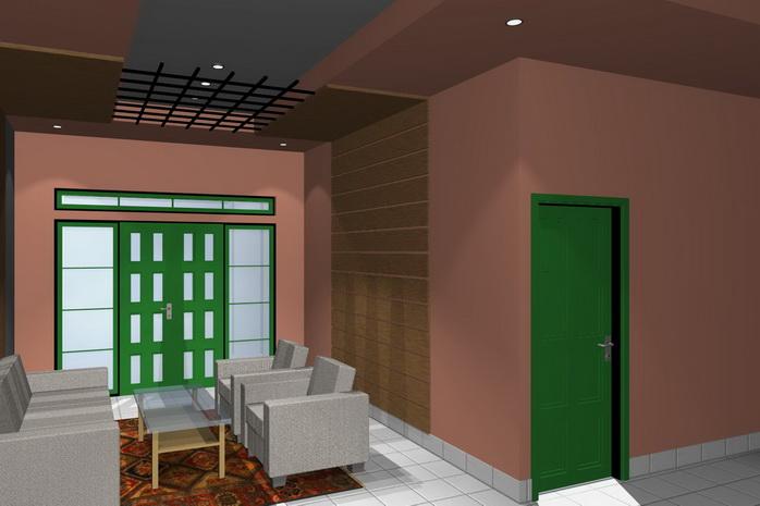 gambar 2. interior rumah minimalis ruang tamu