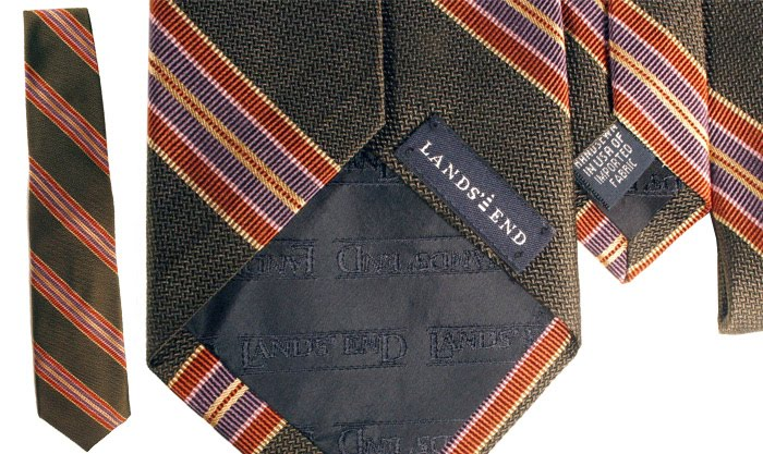 Lands End tie in green and purple
