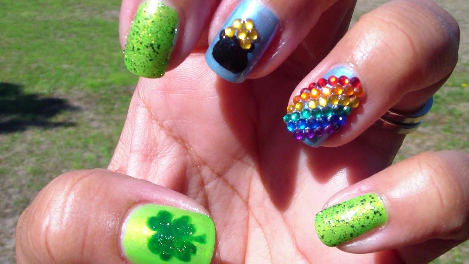 VianneyCreates: Fun St. Patrick\'s Day Nail Design ft. TMart.com ...