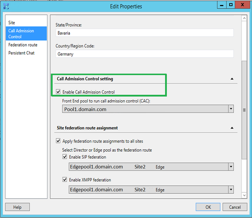 How to change Call Admission Control pool server? | UC ...