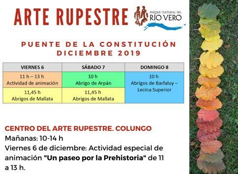 HORARIOS DEL ARTE RUPESTRE EN EL PUENTE DE LA CONSTITUCIÓN.