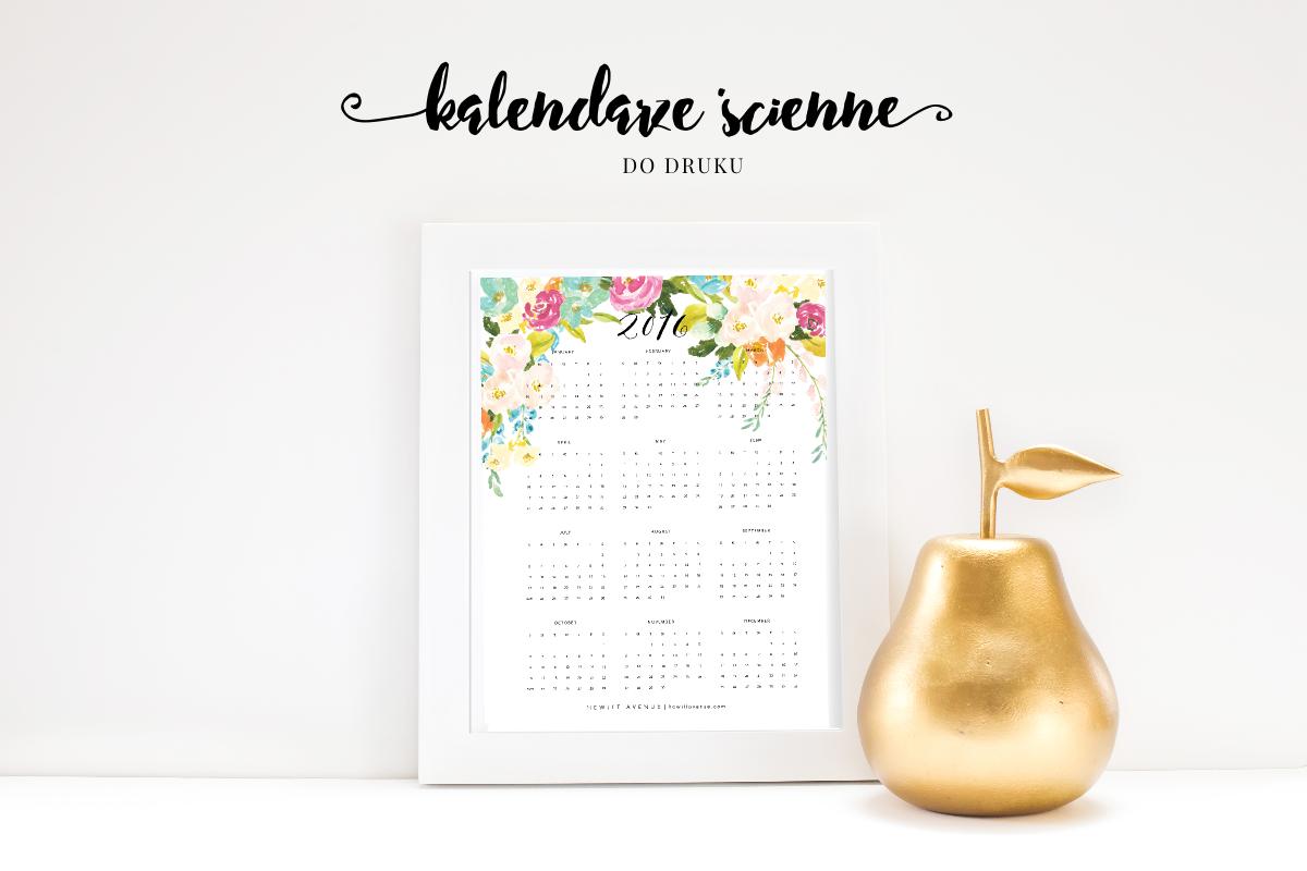 Piękne kalendarze ścienne 2016 do druku #2 {wszystkie do pobrania za darmo!}