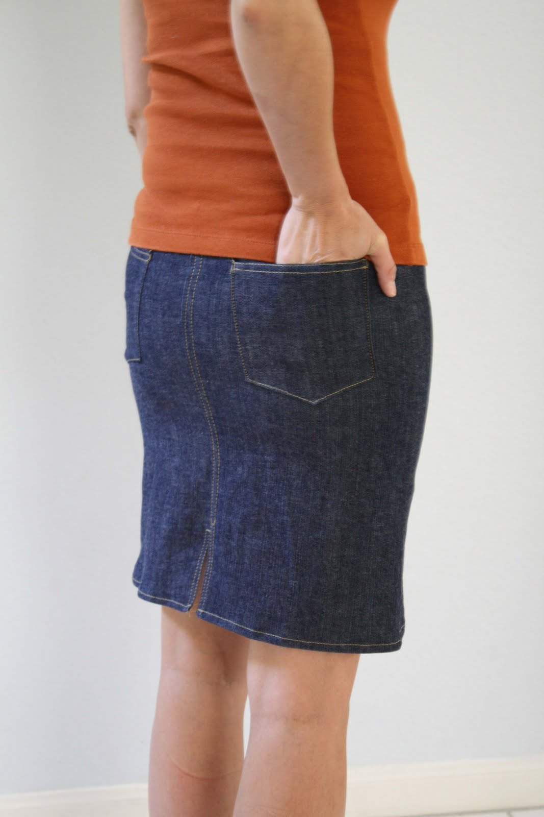 Denim skirt tutorial - Melly Sews