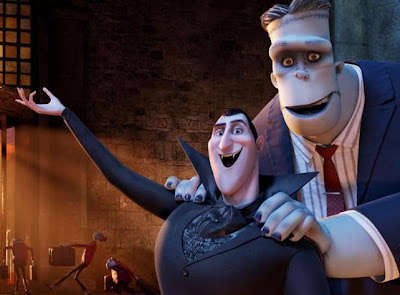 Dracula and Frankenstein's monster in Hotel Transylvania